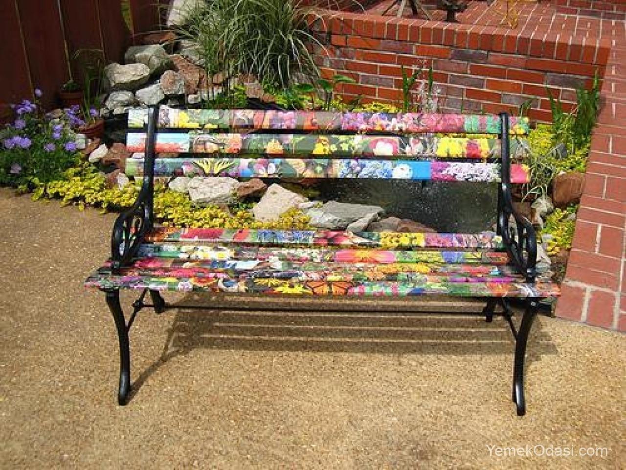 Bahçe oturma bankı
