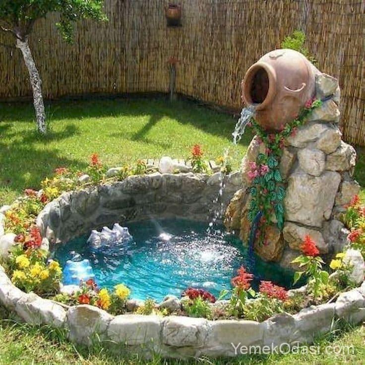 Bahçe Şelaleli Süs Havuzu
