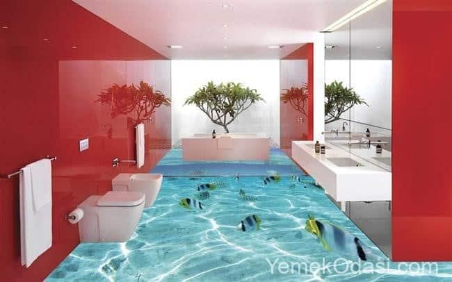 banyoda deniz etkisi
