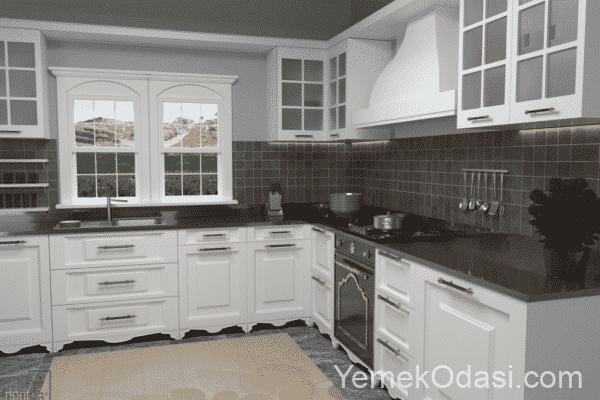 camlı mutfak dolabı