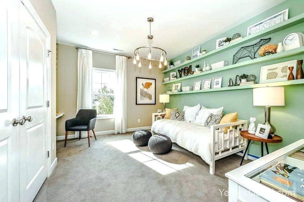 gri yeşil oturma odası