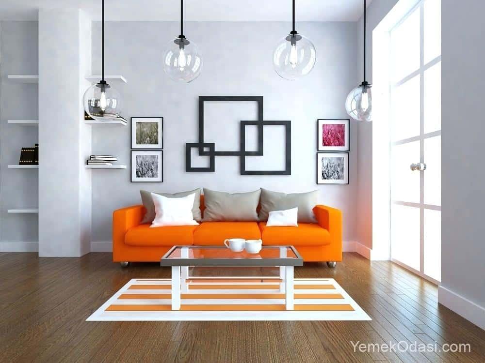turuncu gri salon