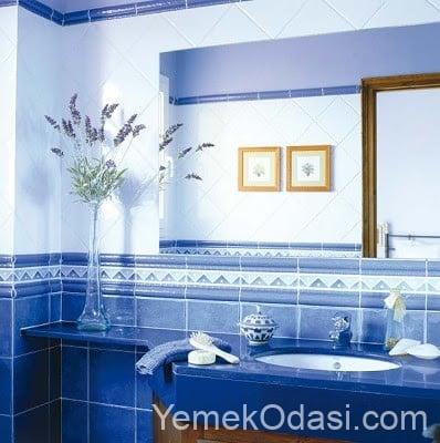 kobalt mavisi banyo