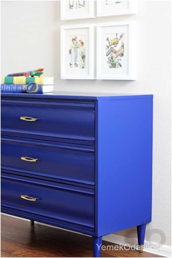 kobalt mavisi mobilya
