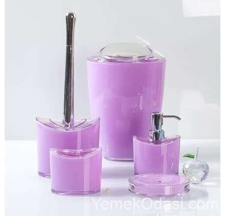 lila banyo seti
