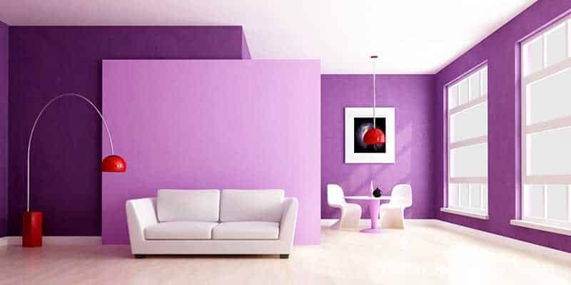 lila duvar boyası