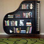 piyano raf kitaplık