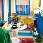 renkli balkon dekorasyonu