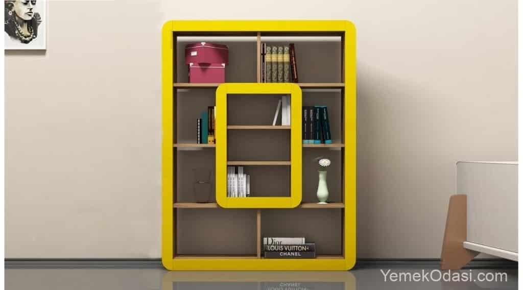 sarı raf kitaplık