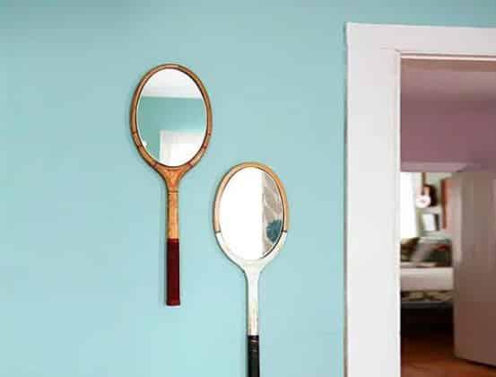 tenis raketinden ayna