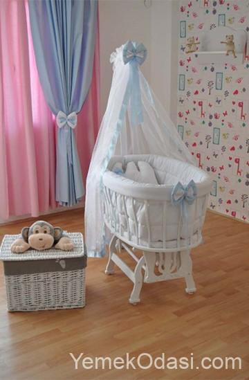 Beyaz Bebek Beşiği Modelleri