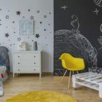 çocuk odası kara tahta