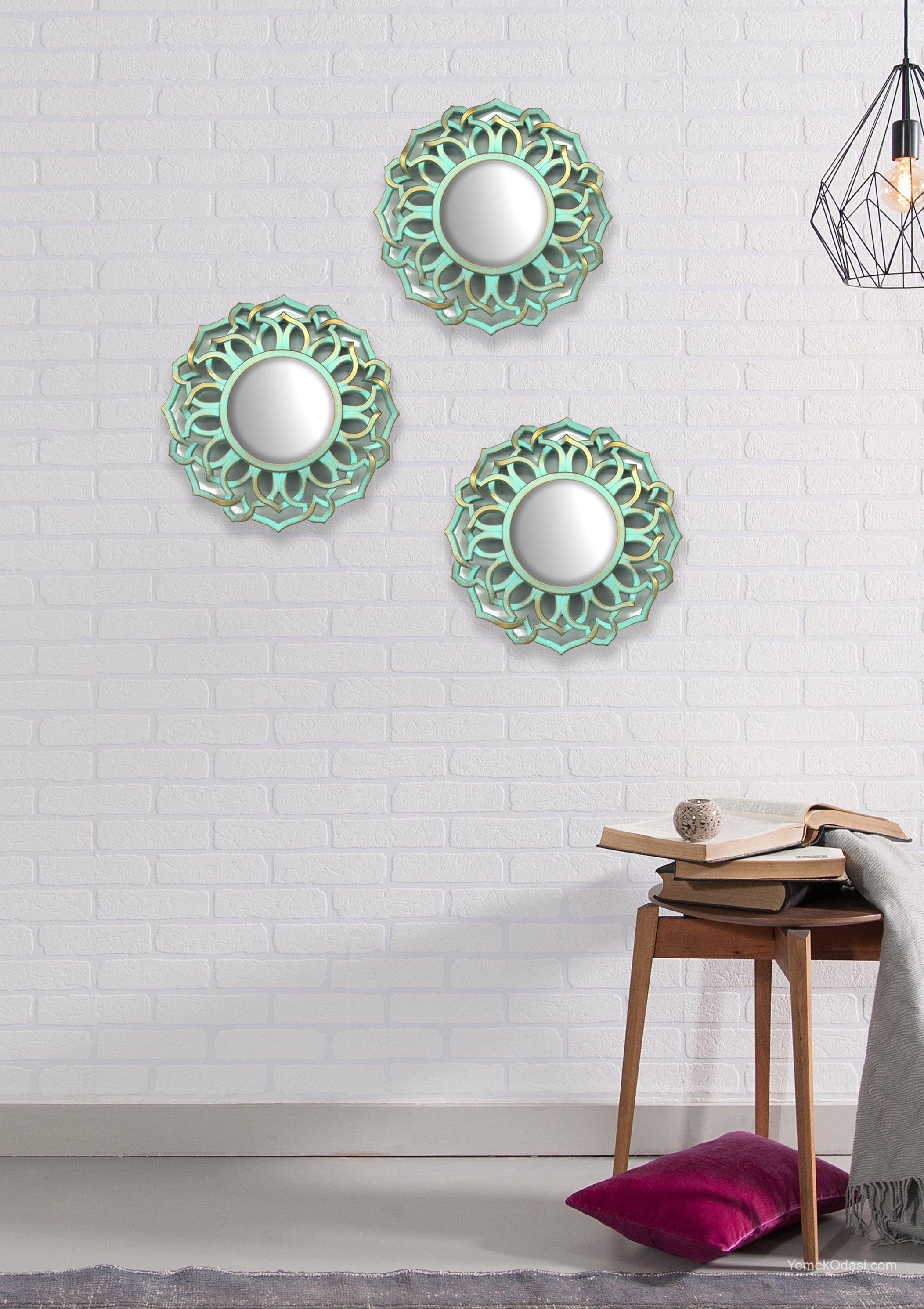 Dekoratif Ayna Süsleme Yemek Odası