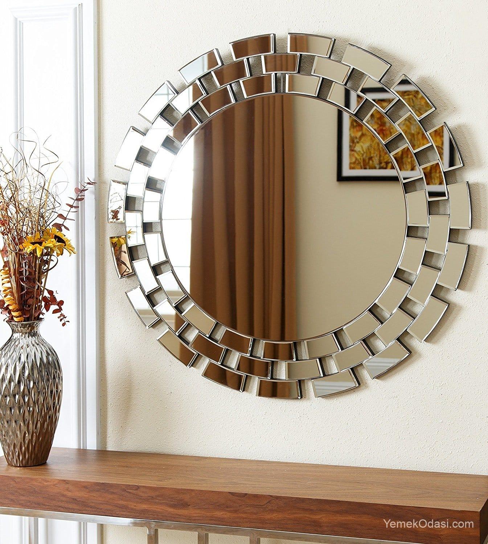Dekoratif Salon Ayna Modelleri Yemek Odası