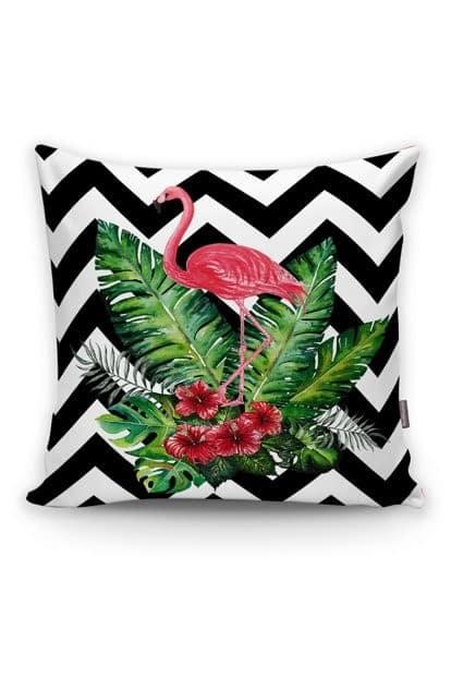 flamingolu zigzag yastık