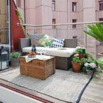 bitkilerle teras dekorasyonu