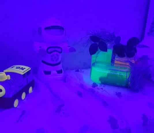 karanlıkta parlayan fosforlu kavanoz