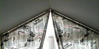 modern çatı katı perde modelleri