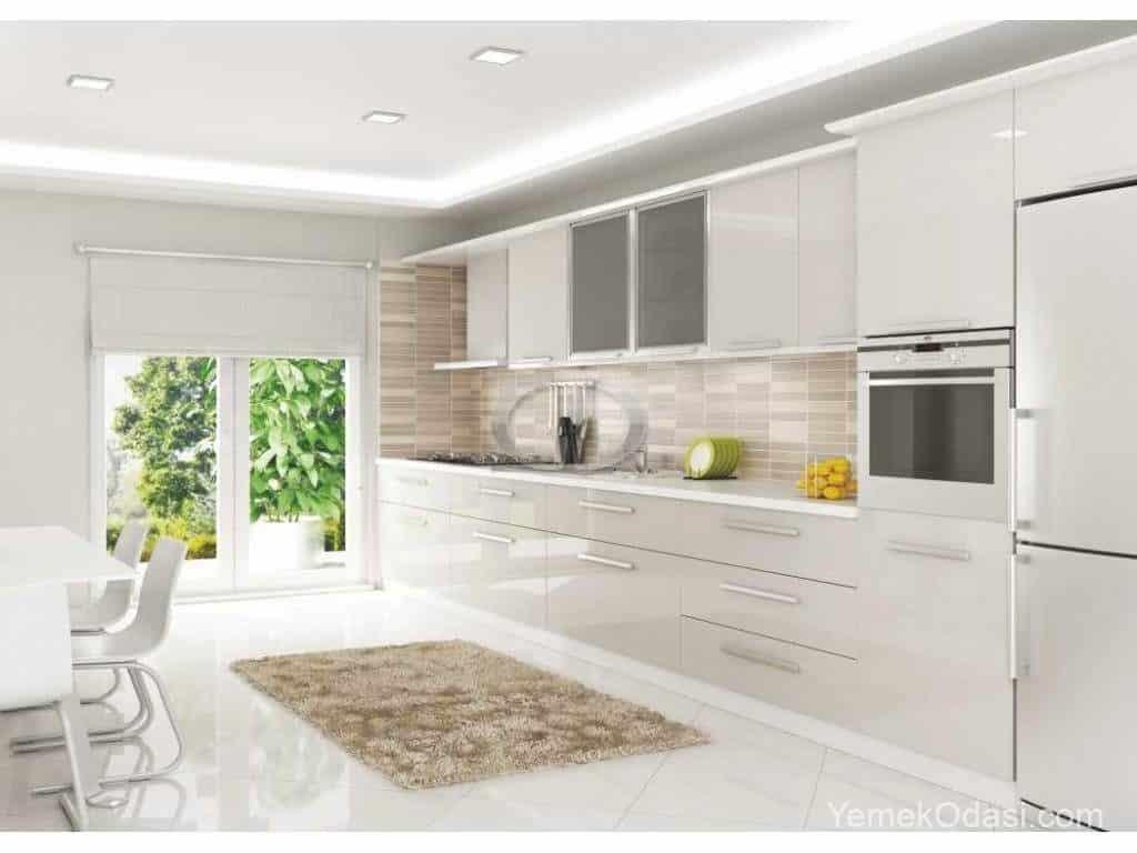 Mutfak Dolabı Modelleri Beyaz