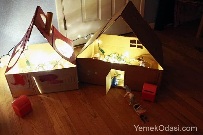 ışıklı oyuncak ev