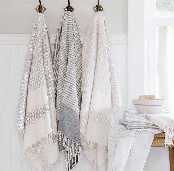 banyo tekstil ürünü olarak havlu