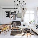 iskandinav stili yaşam alanı