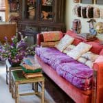 bohem dekorasyon renkli oda